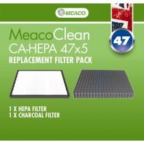 Meaco Clean CA-HEPA 47x5 Filtry do oczyszczacza