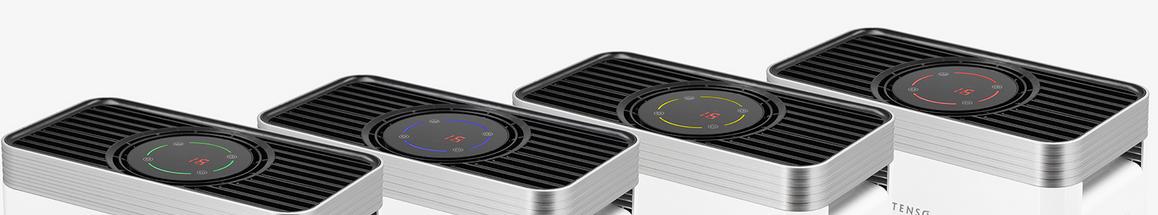 jakość powietrza Rotenso Q35W QUBE oczyszczacz powietrza