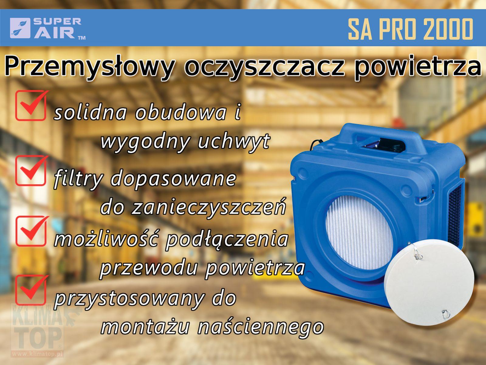 Super Air SA PRO2000 przemysłowy oczyszczacz powietrza