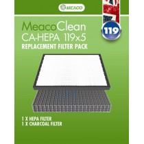 Meaco Clean CA-HEPA 119x5 Filtry do oczyszczacza